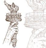 Estátua da liberdade com tocha