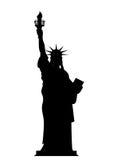 Estátua da liberdade da silhueta nos EUA Símbolo nacional do contorno de ilustração do vetor