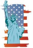 Estátua da liberdade do vetor Fotografia de Stock