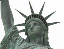 Estátua da liberdade próxima acima na face imagens de stock