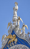 Estátua da marca de Saint em Veneza fotografia de stock