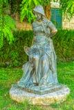 Estátua da menina em Supetar imagens de stock royalty free