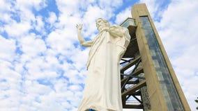 Estátua da montanha Colômbia de Cristo Floridablanca Santisimo filme
