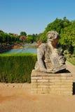 Estátua da mulher no Alcazar garde Fotografia de Stock