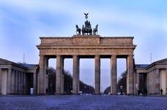 Estátua da porta de Brandemburgo fotos de stock royalty free