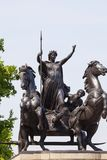 Estátua da rainha Boudica perto da ponte de Westminster, Londres, Reino Unido fotos de stock royalty free