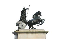 Estátua da rainha de Boadicea Boudicca, Londres, Reino Unido fotografia de stock royalty free
