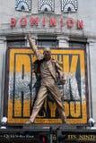 Estátua da rainha do Mercury de Freddie do teatro da autoridade Imagens de Stock