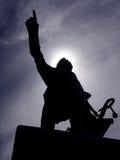Estátua da silhueta Fotografia de Stock Royalty Free