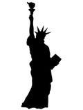 Estátua da silhueta da liberdade. Imagem de Stock