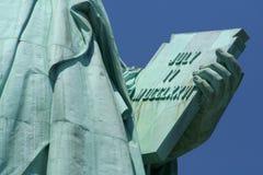 Estátua da tabuleta da liberdade Imagem de Stock