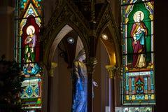 Estátua da Virgem Maria em Roman Catholic Church no provi de Chantaburi Fotografia de Stock Royalty Free
