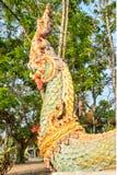 Estátua da vista traseira do naga Imagem de Stock
