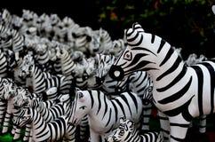 Estátua da zebra em Tailândia Foto de Stock