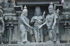 A estátua das deidades hindu em Batu cava Malásia Fotos de Stock Royalty Free