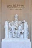 Estátua de Abraham Lincoln Fotografia de Stock Royalty Free