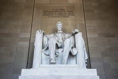 Estátua de Abraham Lincoln fotos de stock royalty free