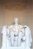 A estátua de Abraham Lincoln imagens de stock royalty free