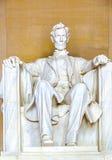 Estátua de Abraham Lincoln em fotografia de stock