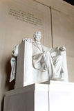 Estátua de Abraham Lincoln no memorial de Lincoln imagens de stock