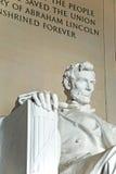 Estátua de Abraham Lincoln no memorial de Lincoln fotografia de stock
