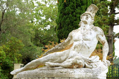 Estátua de Achiles de morte imagem de stock