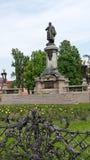 Estátua de Adam Mickiewicz em Varsóvia, Poland Imagem de Stock Royalty Free