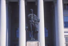 Estátua de Alexander Hamilton, departamento do Estados Unidos do Tesouraria, Washington, D C Fotos de Stock