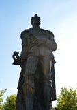 Estátua de Alexandru Ioan Cuza, príncipe de Moldávia e de Wallachia, Fotografia de Stock Royalty Free