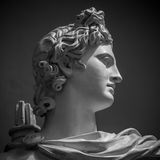 Estátua de Apollo Belvedere fotos de stock