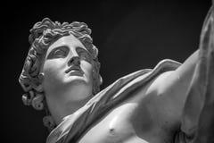 Estátua de Apollo Belvedere foto de stock