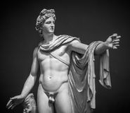 Estátua de Apollo Belvedere imagem de stock royalty free