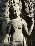 Estátua de Apsara em Angkor em Camboja Fotos de Stock