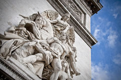 Estátua de Arc de Triomphe Fotos de Stock Royalty Free