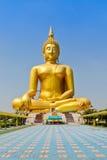 Estátua de assento gigante da Buda foto de stock