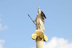 Estátua de Athena na universidade da rua, Atenas Foto de Stock