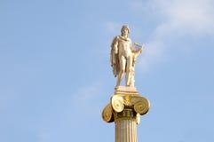 Estátua de Athena na universidade da rua, Atenas Fotos de Stock Royalty Free
