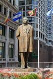 Estátua de Benito Juarez - Chicago Imagem de Stock Royalty Free