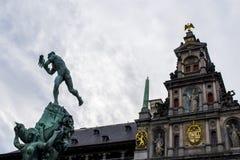 A estátua de Brabo Imagem de Stock Royalty Free