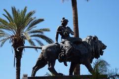 Estátua de Bronce em Palermo fotografia de stock