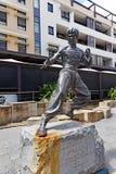 Estátua de bronze de Bruce Lee foto de stock royalty free