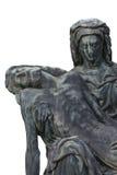Estátua de bronze da Virgem Maria que guarda o corpo de Jesus Christ imagens de stock royalty free