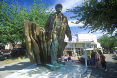 Estátua de bronze de Vladimir Lenin por Emil Venkov, artista eslavo, Seattle, WA Imagem de Stock
