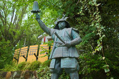 Estátua de bronze de Yukimura Sanada em Osaka Imagens de Stock Royalty Free