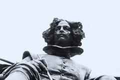 Estátua de bronze do pintor de Diego Velazquez imagens de stock