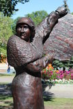 Estátua de bronze dos direitos das mulheres canadenses Imagens de Stock
