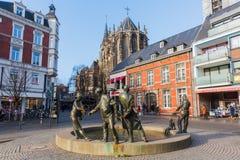 Estátua de bronze em Aix-la-Chapelle, Alemanha Fotos de Stock Royalty Free