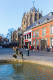 Estátua de bronze em Aix-la-Chapelle, Alemanha Foto de Stock