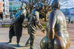 Estátua de bronze em Aix-la-Chapelle, Alemanha Imagem de Stock Royalty Free