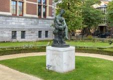 Estátua de bronze de Mercury, Rijksmuseum, Amsterdão, Países Baixos imagem de stock royalty free